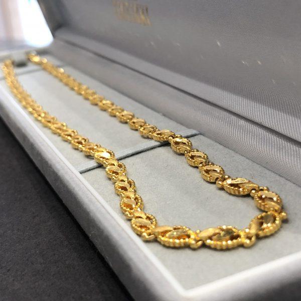 24金製 デザインネックレス