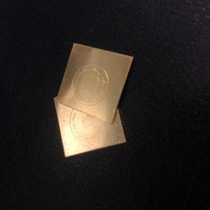 貴金属 歯科用純金・5g金板0